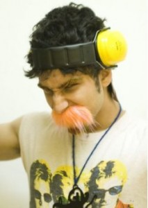 Bilal Ghalib and his orange mustache